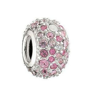 Pink Swarovski Jeweled Kaleidoscope Bead